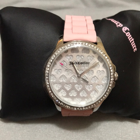 1d56b7598 Juicy Couture Accessories | Timepieces Pink Heart Face Watch | Poshmark